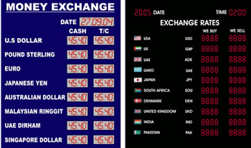 Currency Exchange Rate Display